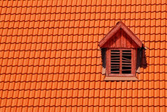 Orange roof tile in carpathians castle Royalty Free Stock Image