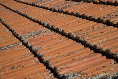 Orange roof tile Stock Photo