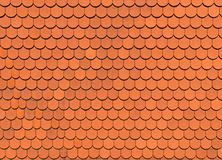Orange roof tile texture, background.  Royalty Free Stock Image