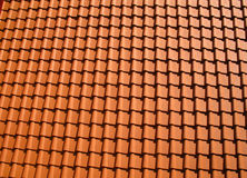 Orange roof tiles. Photographed in a issue Royalty Free Stock Photography