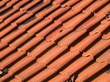 Orange roof tiles. Aged orange ceramic roof tiles in Melaka, Malaysia Stock Image