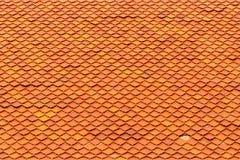 Orange roof tiles. Of Thai temple Royalty Free Stock Photos
