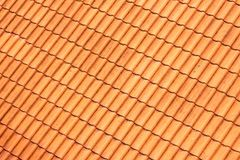 The Orange roof tiles background. Royalty Free Stock Photo