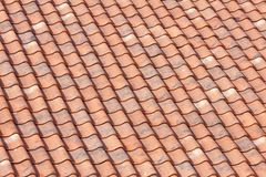 Orange roof tiles background. Orange roof with tiles background Royalty Free Stock Photography