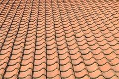 Orange roof tiles background Stock Image
