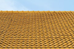 Orange roof tiles Royalty Free Stock Photos