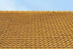 Orange roof tiles royalty free stock photos