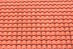 Orange Roof Tiles. Pattern of the  roof with orange  tiles Stock Images