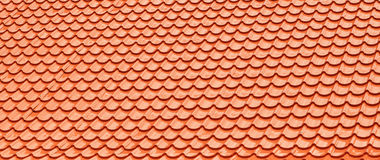 Orange Roof Tiles. royalty free stock photos