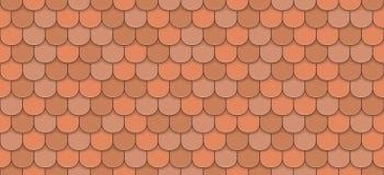 Orange roof tiles. Seamless pattern - vector illustration Stock Photos