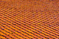Orange roof tiles Royalty Free Stock Images