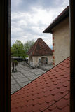 Orange roof top with heritage architecture at Bled castle in Ble Royalty Free Stock Photos