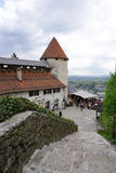 Orange roof top with heritage architecture at Bled castle in Ble Stock Images