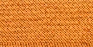 Orange roof top tiles on temple Royalty Free Stock Photos