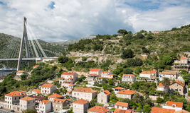 Orange Roofed Homes in Croatia. Homes and buildings on the hilly coastline of Croatia, near Dubrovnik Stock Photos