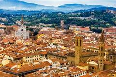 Badia Florentina Santa Croce Church Cityscape Florence Italy Royalty Free Stock Photography
