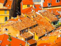 Aerial view of the Nice, France stock photo