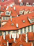 Orange roofs of Prague, Czech. Typical orange roofs of Prague, Czech Stock Photography