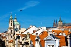 Orange roofs or Prague Royalty Free Stock Photo