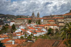 The orange roofs of Santiago Stock Photography