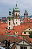 Orange roofs and tower. In Prague, Czech Royalty Free Stock Images