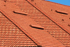 Orange rooftop detail Stock Photos