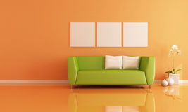 Orange room Royalty Free Stock Image