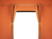 Orange room have a window with blinds. Royalty Free Stock Photo