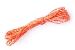 Orange rope isolated on white Stock Image
