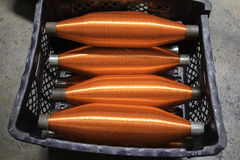 Orange ropes Stock Images