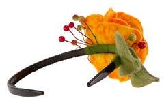 Orange rose flower image made from wool Stock Image