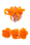 Orange rose made from soap-flakes Stock Photo