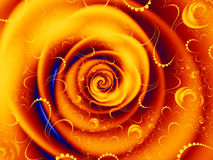 Orange rose swirl graphic Royalty Free Stock Photo