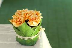 Orange roses. Some orange rosess bouquet decoration Royalty Free Stock Image