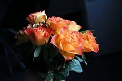 Orange roses bouquet Stock Photography