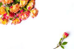 Orange roses decoration with place for text Royalty Free Stock Photography