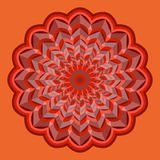 Orange rosette vector Royalty Free Stock Photos