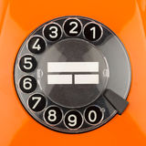 Orange rotary dial Royalty Free Stock Photography