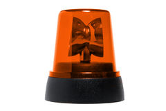 Orange rotating beacon Stock Images