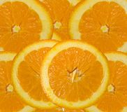 Orange roud slices cut for background Stock Photography
