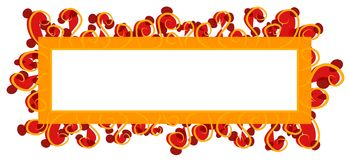 Orange rouge de logo de page Web Image stock