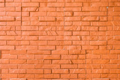 Orange Rough Brick Wall Background/ Texture Stock Image