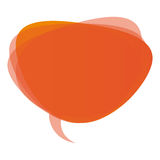 orange round chat bubble icon Stock Photography