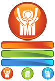 Orange Round Icon - Back Massage Royalty Free Stock Images