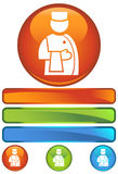 Orange Round Icon - Bellhop Stock Image
