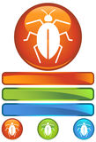 Orange Round Icon - Cockroach Stock Photo