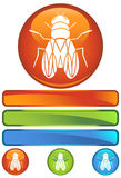 Orange Round Icon - Fly Royalty Free Stock Images