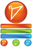 Orange Round Icon - Hanger Stock Photos