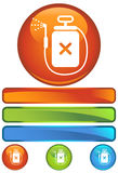 Orange Round Icon - Spray Device Stock Photo