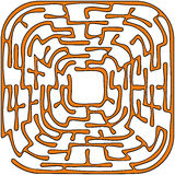 Orange round maze Stock Image